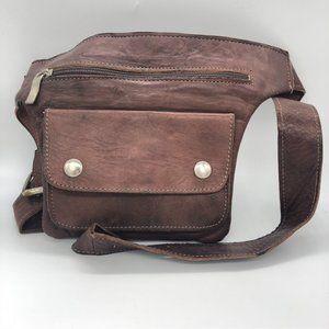 Vintage Unique Leather Waist Pouch Belt FannyPack